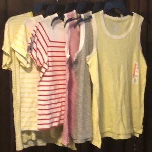 Bundle of 6 Time and Tru sz S tips and tanks